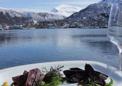 Lunsj på kaia i Tromsø